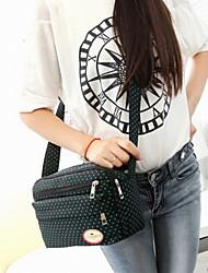 Fashion Women Canvas / Polyester Dot Print Shell Shoulder Bag / Tote-Multi-color