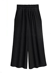 Women's Solid Black Loose Pants,Casual / Day