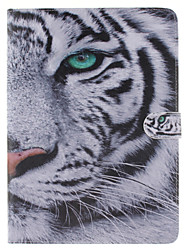 White Tiger Design PU Leather Full Body Case with Stand and Card Slot for iPad Pro 9.7/iPad Air 3/iPad pro mini