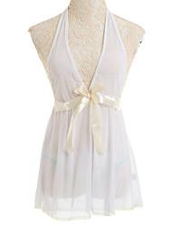Damen Babydoll & slips Nachtwäsche Netz Weiß