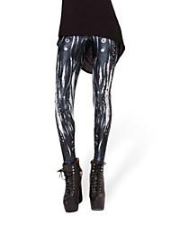 Legging A Motifs Moyen Coton / Spandex Femme