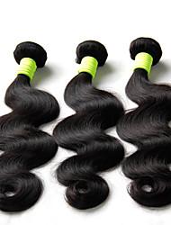 """Los 3pcs 8 """"-30"""" indian Körperwelle reine Haarwebart bündelt natürlichen schwarzen billig 5a remy Menschenhaarverlängerungen verwirren"""