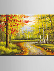 Mini Size E-HOME Oil painting Modern Woods Trail Pure Hand Draw Frameless Decorative Painting