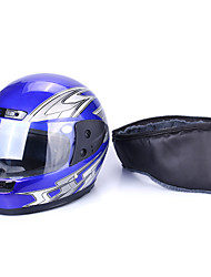 Motorcycle Helmet Bule Half Open Face Adjustable Size 55cm-60cm