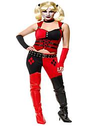 Cosplay Kostüme Superheld / Bat/Fledermaus Film Cosplay Rot / Schwarz Patchwork Top / Hosen / Handschuhe / Mehre AccessoiresHalloween /