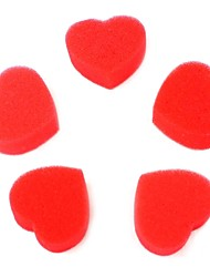 Love Magic Props Sponge Heart Red 5PCS