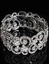 Women's Chain / Round Bangles Bracelet Alloy Rhinestone
