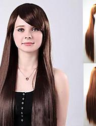 Long straight hair fleeciness hairstyle inclined bang long hair