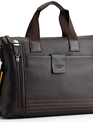 Herren-Umhängetasche / Beutel / Schulranzen / Laptop Tasche-Kuhfell-Kuriertasche-Braun