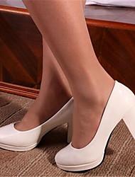 Черный / Красный / Белый / Бежевый-Женская обувь-Для офиса-Синтетика-На толстом каблуке-На каблуках-Обувь на каблуках