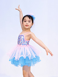 Ballet Outfits Children's Performance Sequined / Tulle / Lycra Ruffles / Sequins As Picture Ballet / Modern Dance / PerformanceSpring,