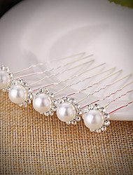 10pcs/set Pearl Crystal Headpiece-Wedding Special Occasion Hair Pin Hair Stick Hair Tool 1 Set