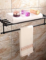 Oil Rubbed Bronze Brass Wall-mounted Double Towel Warmer