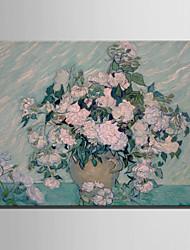 taille mini e-maison peinture à l'huile moderne bouquet de fleurs dans une main pure vase dessiner la peinture décorative frameless