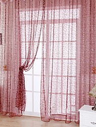 One Panel Rod pocket Multicolour Polyester Sheer Curtains Shades