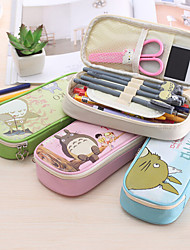 Creative Writing Case Totoro Pen Bag Simple Cartoon High-Capacity Pencil Case Lovely Students Pencil Bags