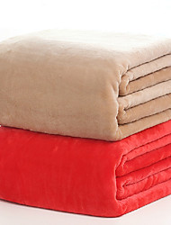 150*200cm Solid Color Flannel Fleece Blankets