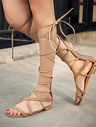 Women's Shoes Flat Heel Gladiator / Novelty Sandals Party & Evening / Dress / Casual Black / Brown / Beige