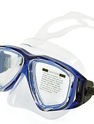 Tauchmasken Zwei-Fenster- Unisex PVC Blau