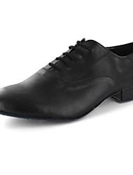 Customizable Men's Dance Shoes Leatherette Leatherette Modern Flats Flat Heel Practice Black