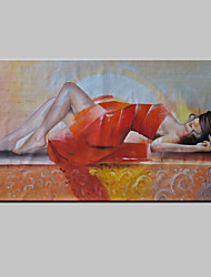 Hand-Painted Beauty Sexy Girls Abstract Portrait Modern Oil Painting On Canvas With Frame Ready to Hang 75x150cm