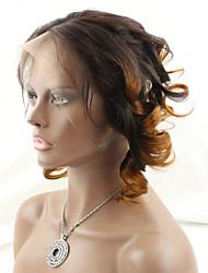 ombre zwei Ton Haar # 1b / 30 federnd lockige Spitze frontal