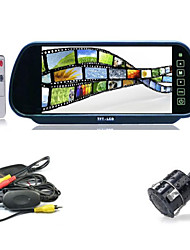 "7"" TFT-LCD Monitor Truck Bus Wireless Backup 170° Camera Kit Night Vision Rear View"