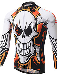 XINTOWN Men's Outdoor Sports Skull Series Long Sleeve Cycling Jersey