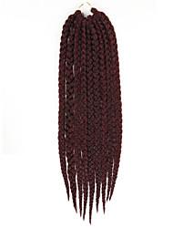 """x-trança tranças de cabelo sintético crochê caixa de mambo havana trança 24 """"M1b-burg # qualidade da extensão do cabelo kanekalon 100%"""