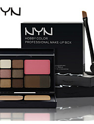 NYN® EyeShadow &Powder&Blush&Eyebrow Makeup Set
