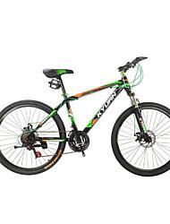 """ciclismo 21 velocidades de freio de disco duplo 26 """"bicicleta de montanha"""