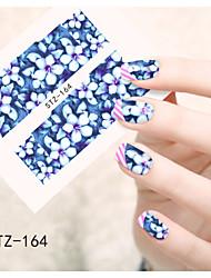 1pcs  Water Transfer Nail Art Stickers  Beautiful Snowman Flower Nail Art Design STZ161-165