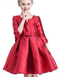 Vestido Chica de-Verano-Algodón-Rojo