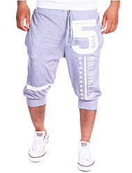 Pantaloni della tuta Uomo Casual Con stampe Cotone