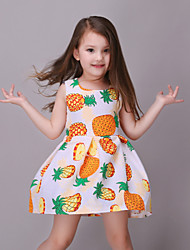 Girl's Print Dress,Cotton / Polyester Summer / Spring / Fall Multi-color