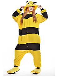 kigurumi Pyjamas New Cosplay® / Abeille Collant/Combinaison Fête / Célébration Pyjamas Animale Halloween Jaune Mosaïque Polaire Kigurumi