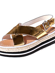 Women's Shoes Platform Creepers / Round Toe / Open Toe Sandals Dress / Casual Black / Gold