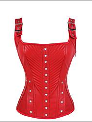 Damen Brustkorsett  -  Baumwolle / Nylon / Polyester / PU / Satin / Elasthan / Modal Reißverschluss