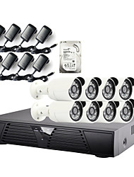 strongshine®ip camera met 1080p / infrarood / waterdicht en 8CH h.264 NVR / 2TB surveillance hdd combo kits