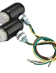 2 x 24 LED clignotante lampe témoin lumineux de sécurité arrière de la moto