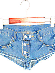Women's Low Waist Blue Jeans / Shorts Pants,Sexy / Club