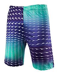 Men's Print Casual / Sport Shorts,Cotton Brown / Green