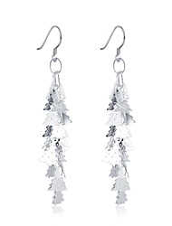 lureme®Fashion Style Silver Plated More Trees Shaped Dangle Earrings