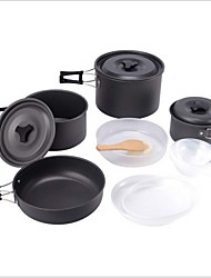 Portable Outdoor Cooking Set Cookware Camping Picnic Hiking Utensils Pot Pan Bowl for 4-5 people