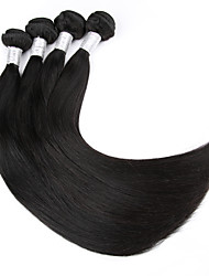 5pcs / lot 8-30inches pelo virginal indio prima recta 100% cabello humano de la armadura negro natural