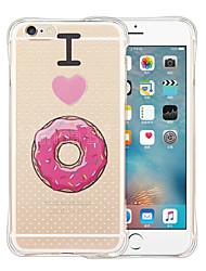 Для Кейс для iPhone 6 / Кейс для iPhone 6 Plus Защита от удара / Прозрачный / С узором Кейс для Задняя крышка Кейс для Мультяшная тематика