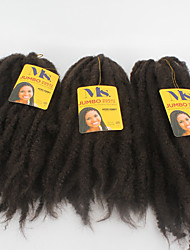 "X-TRESS Collection Crochet Afro Kinky Braids 100% Kanekalon Toyokalon Fibers Jumbo Marley 18"" #2 Braiding Hair Extension"