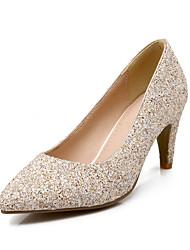 Women's Shoes Glitter Stiletto Heel Heels Heels Casual Black / White / Gold