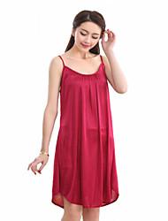 Women Ultra Sexy Nightwear,Sexy Silk Purple / Red Women's