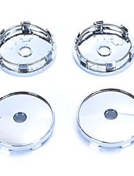 4 шт серебряный тон пластик 60 мм диам автомобиля капот эмблема колесо центр крышки ступицы крышки